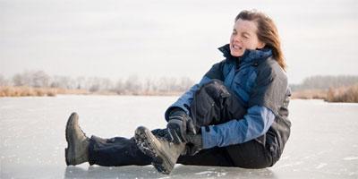 Spaziergänge auf Schnee und Eis sind gefährlich!