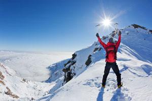 Vergessen Sie NIE den Sonnenschutz im Schnee!