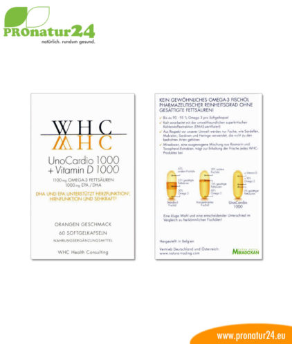 UnoCardio 1000 + Vitamin D 1000 OMEGA-3 Fettsäuren