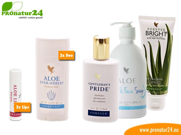 Aloe Vera Hygiene Starter Set für Paare