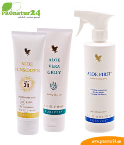 Aloe Vera Sommer Sonnencreme Wellnes Set
