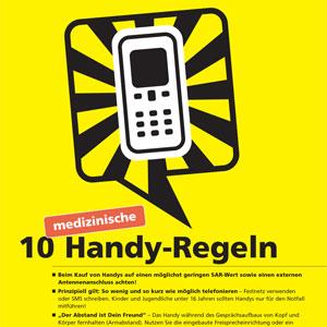 10 Handy-Regeln von der Ärztekammer zum downloaden