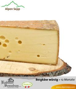 Würziger Bergkäse mit 12 Monaten Reifung vom Alpen Sepp