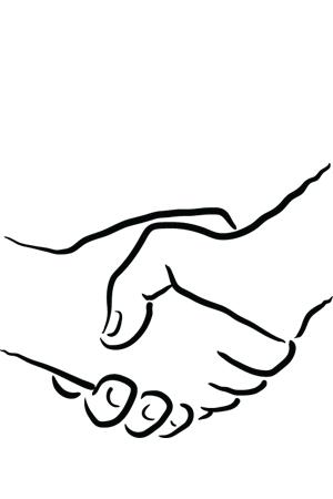 Handschlag, ein Symbol der Wertschätzung