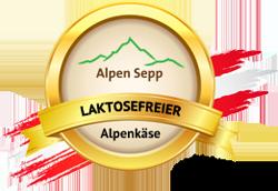 Siegel für laktosefreien Alpenkäse