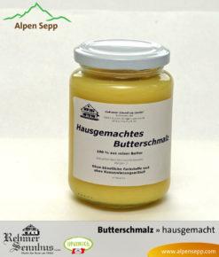 Hausgemachtes Butterschmalz vom Alpen Sepp