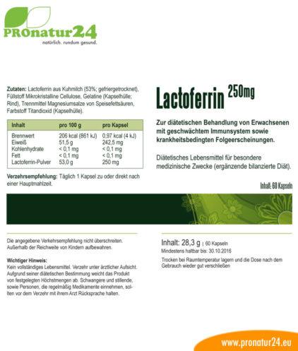 Lactoferrin NFQ Kapseln Beschreibung