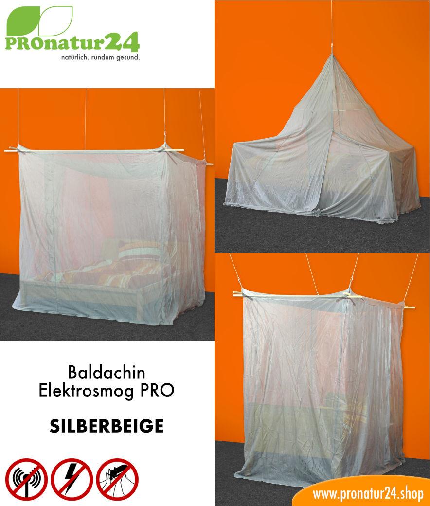 Elektrosmog Im Schlafzimmer baldachin elektrosmog pro in silberbeige zum schutz vor wlan funk