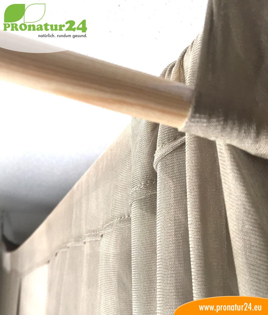 baldachin elektrosmog pro in silberbeige zum schutz vor. Black Bedroom Furniture Sets. Home Design Ideas