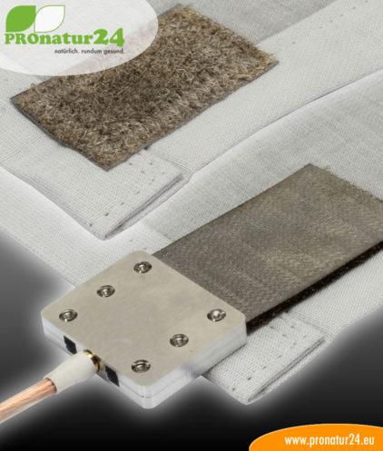 Erdung der Bodenunterlage mittels Erdungsplatte Klett