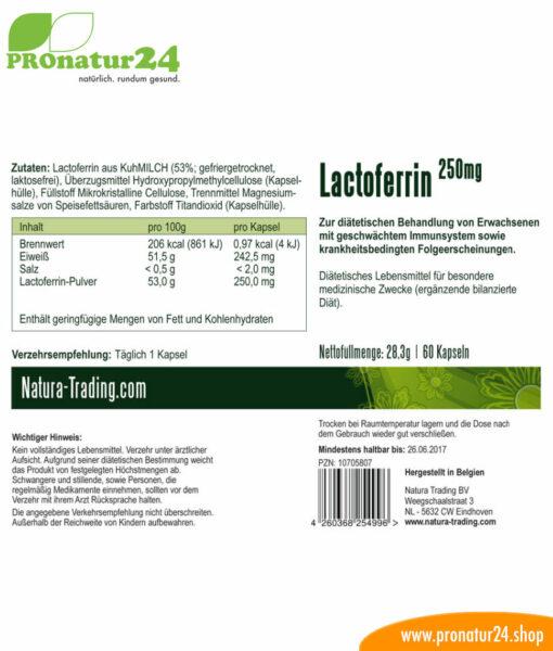 Lactoferrin für ein leistungsfähiges Immunsystem