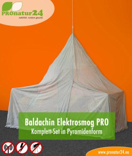 Baldachin Elektrosmog PRO, Set in Pyramidenform