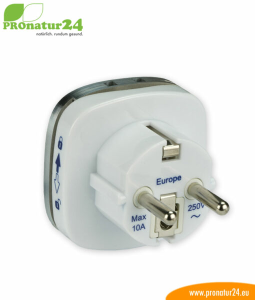 Erdungsstecker Typ EF, CEE 7/7 zur Erdung vom zB. Elektrosmog Baldachin PRO