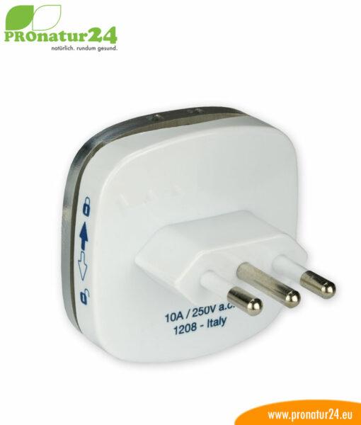Erdungsstecker Typ L, CEI 23-50 zur Erdung vom zB. Elektrosmog Baldachin PRO