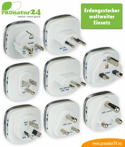 Erdungsstecker für die Erdung ortveränderlicher Produkte wie unserem Elektrosmog Baldachin PRO