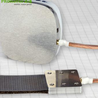 Praxisnutzung vom weltweiten Adapter Set zur Erdung mit Klettverschluss
