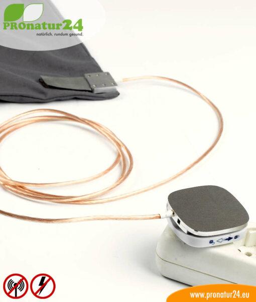 Schlafsack Elektrosmog PRO mit angeschlossener Erdung