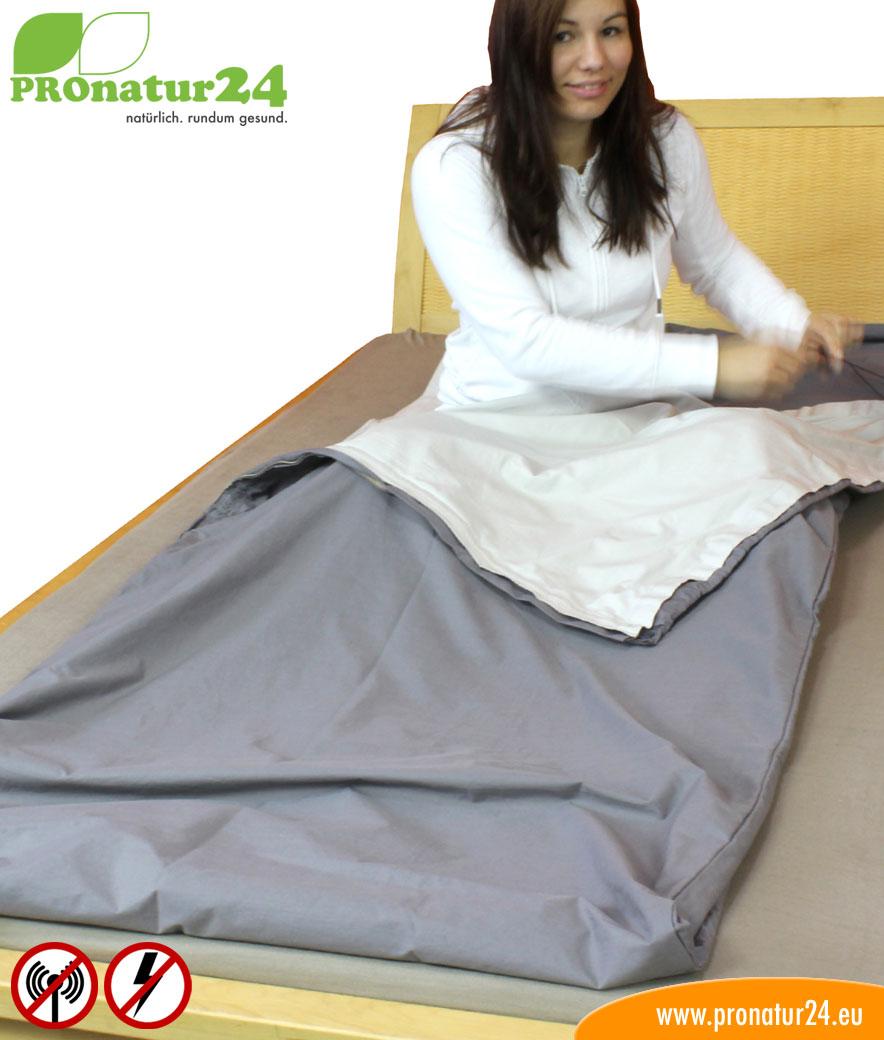 schlafsack tsb elektrosmog pro mit rundum schutz vor funk und elektrischen feldern pronatur24 shop. Black Bedroom Furniture Sets. Home Design Ideas