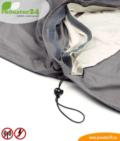 Schnurzug vom Kopfteil vom Schlafsack Elektrosmog PRO