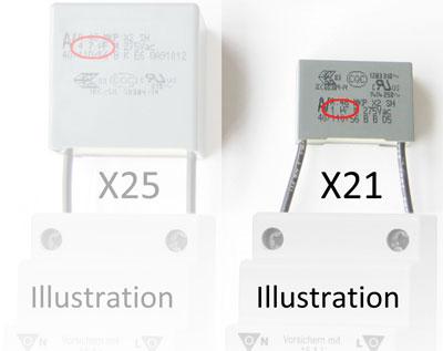 Netzfilter X21 und X15 im Vergleich
