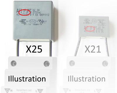 Netzfilter X21 und X25 im Vergleich