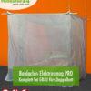 Baldachin SET Elektrosmog PRO in Grau fürs Doppelbett