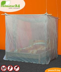 Baldachin Elektrosmog PRO GRAU fürs Doppelbett