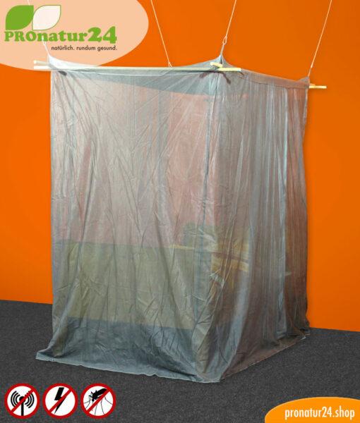 Baldachin Elektrosmog PRO GRAU fürs Einzelbett