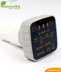 Steckdosenprüfer zum schnellen Check der angeschlossenen Erdung