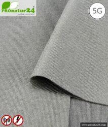Abschirmstoff SILVER ELASTIC für Bekleidung, HF Abschirmung bis 50 dB, NF erdbar. Wirkungsvoll gegen 5G!