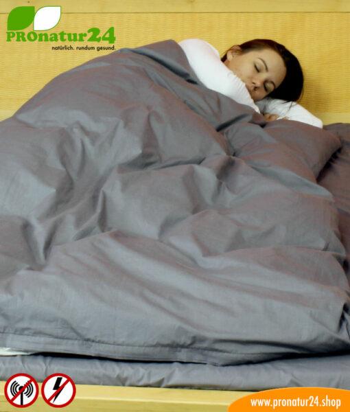 Funktionale abschirmende Bettwäsche zur Reduktion der Strahleneinwirkung durch Elektrosmog
