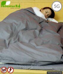 Abschirmende Bettwäsche TBL mit Abschirmung gegen HF Elektrosmog bis zu 41 dB (WLAN, Handy). Erdbar. Wirkungsvoll gegen 5G!