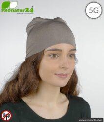 Abschirmender Kopfschutz TKE / dehnbares Kopftuch / Headgear. Schutz bis 50 dB vor Elektrosmog (Handy, WLAN, LTE). Wirkungsvoll gegen 5G!