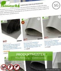 ABSCHIRMUNG TESTMUSTER - bis zu 3 Material-Muster gratis!