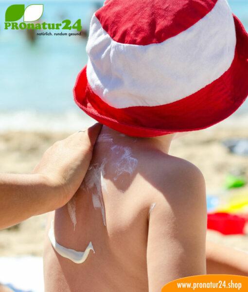 Die junge Haut vom Kind muss dringend geschützt werden!