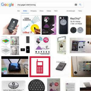 Google Suche nach E-Smog Chips