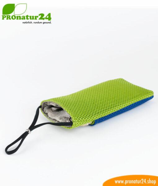 Handyhülle Handytasche eWall, 3in1 Funktion, wendbar, blau-grün
