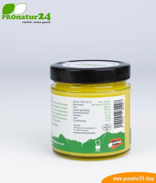 PREMIUM GHEE für die ayurvedische / Low Carb Küche von PROnatur24