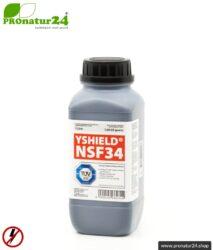 Abschirmfarbe NSF34   NF Abschirmung bis 40 dB. Schutz vor niederfrequenten elektrischen Felder (Hausstrom).   TÜV SÜD zertifiziert   Erdung notwendig.