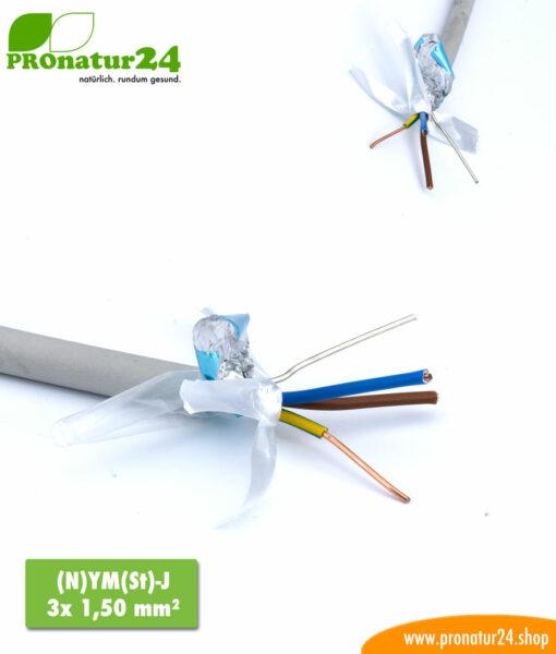 abgeschirmtes BIO Kabel (N)YM(St)-J 3x 1,50 mm²