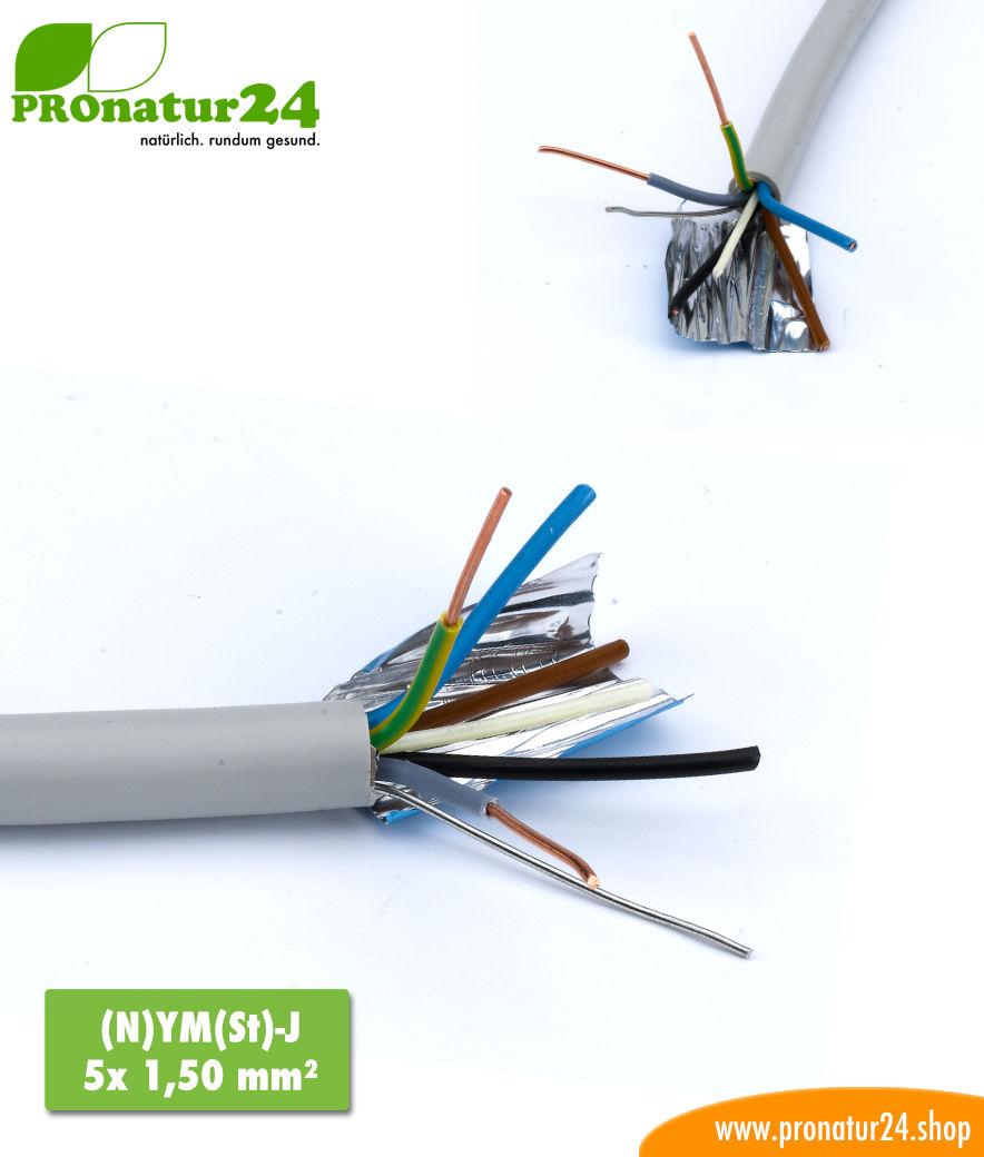 Geschirmte Elektrokabel Mantelleitung (N)YM(St)-J. BIO Elektro Kabel ...