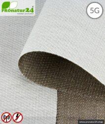 Abschirmstoff SILVER TWIN für zB. Vorhänge. HF Abschirmung bis 57 dB, erdbar. Wirkungsvoll gegen 5G!