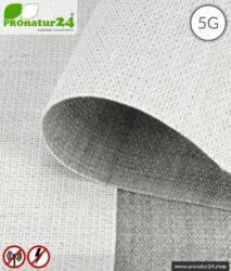 Abschirmstoff STEEL TWIN für Bodenunterlagen und Vorhänge. HF Abschirmung bis 41 dB, erdbar. Wirkungsvoll gegen 5G!