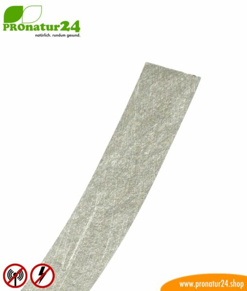 Erdungsband EB1 mit leitfähigem Kleber für abschirmende Farben, Gewebe und Vliese, 10 Laufmeter, HF, NF