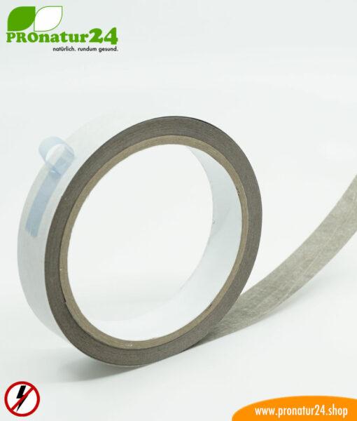 Erdungsband EB1 mit leitfähigem Kleber, selbstklebend, für Gewebe und Vliese, 2 cm breit, 10 Laufmeter
