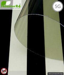 Abschirmende Fensterfolie RDF72 PREMIUM. Schirmdämpfung bis zu 30 dB gegen Funkstrahlung HF. Wirkungsvoll gegen 5G!