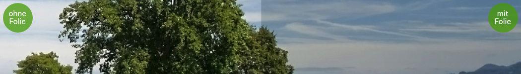 Abschirmende Fensterfolie RDF72 Detailaufnahme mit einer Schirmung von bis zu 30 dB