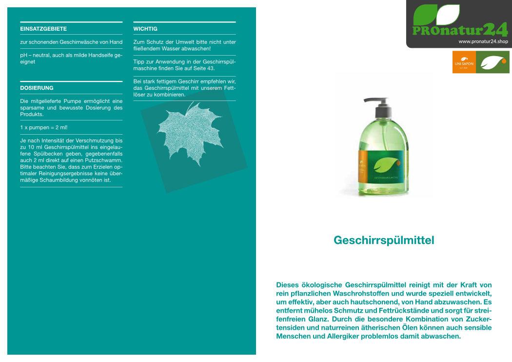 Anwendung vom Geschirrspülmittel von UNI SAPON