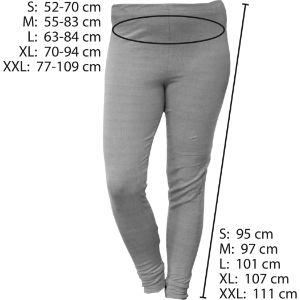 Größentabelle für die abschirmende Hose