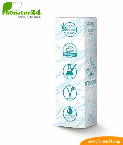 CBD Hanföl der Cannabis Pflanze mit 20 % CBD Anteil. Ohne THC.